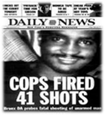 Amadou Diallo -- 41 Shots