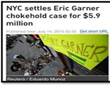 NYC Settles Garner Death for 5.9 Million
